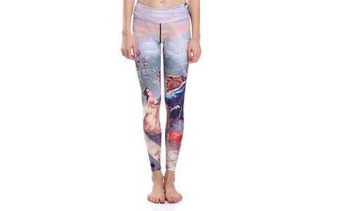 Beauty and the Beast  LEGGINGS PRINT ALL OVER