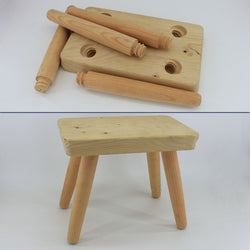 montessori wooden stool