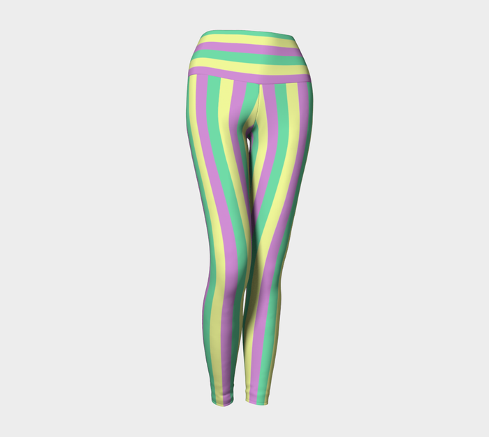 Mardi Gras Yoga Leggings