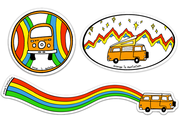 Rainbow Sticker 3 Pack