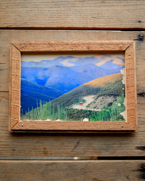 Handmade Wood Print - Onward Mountains