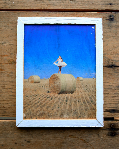 Hay Fields Forever - Handmade Wood Print