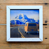 Snow Capped Journey - Handmade Wood Print