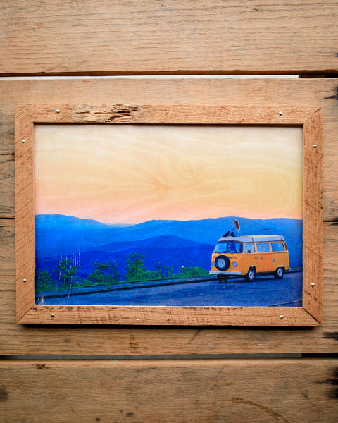 Blue Ridge Vista  - Handmade Wood Print