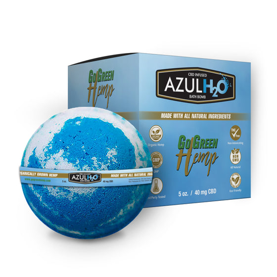 GoGreen Hemp CBD Bath Bomb Azul H20 40MG