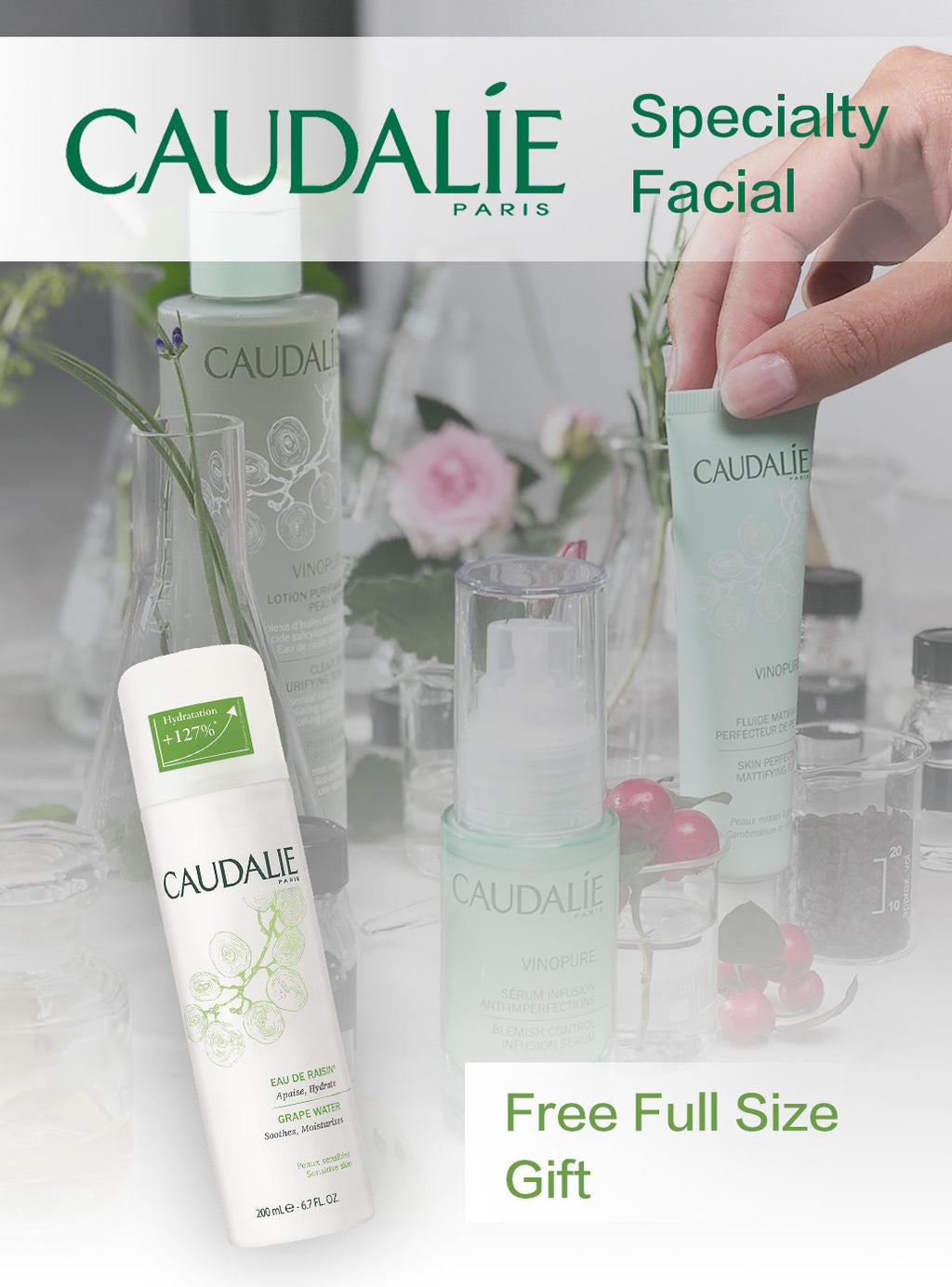 Caudalie Luxury Specialty Facial + Full Size Gift