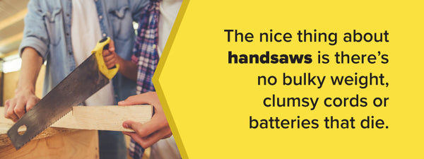 benefits of handsaws