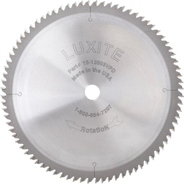 luxite carbide tipped crosscut saw blade for circular or miter saw