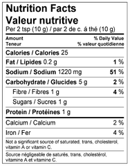 Souvlaki Marinade Mix Nutrition Facts