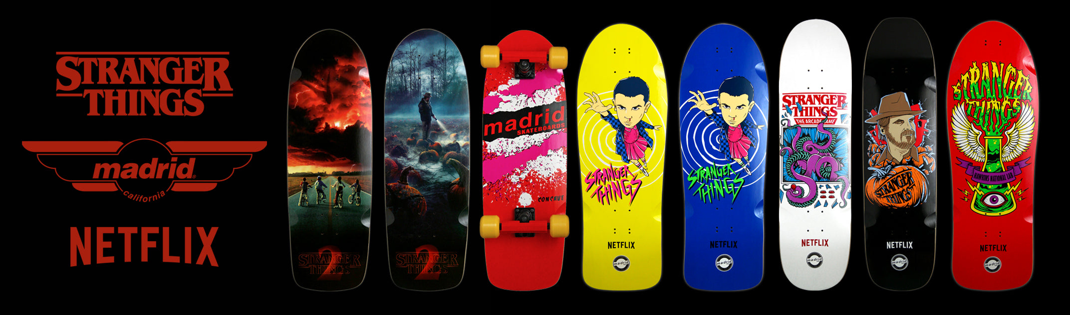 Madrid Skateboards Stranger Things Retro Collab MadMax