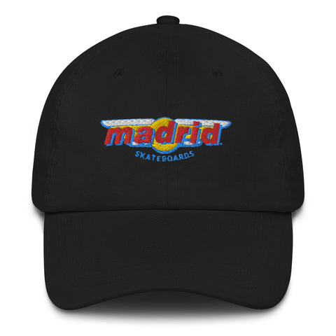 Madrid Wings Embroidered Dad Hat Black