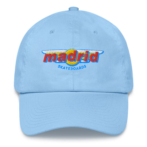 Madrid Wings Embroidered Dad Hat Blue
