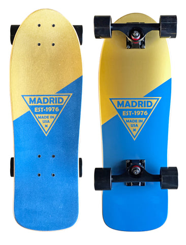 "Madrid Retro Micro Cruiser 24.5"" Blue Gold"