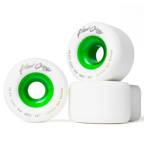 Blood Orange Morgan Pro Series 70mm/80A White Wheels