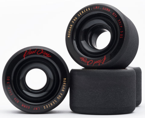 Blood Orange Morgan Pro Series 60mm/82A Black Wheels