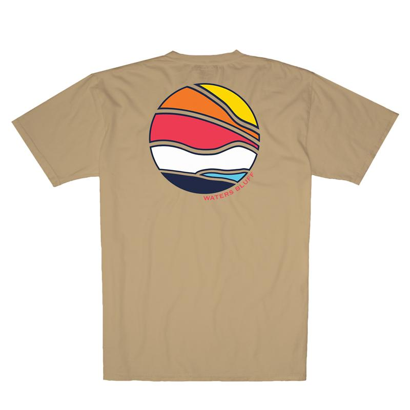 3D Bluff Horizon Simple Pocket Tee