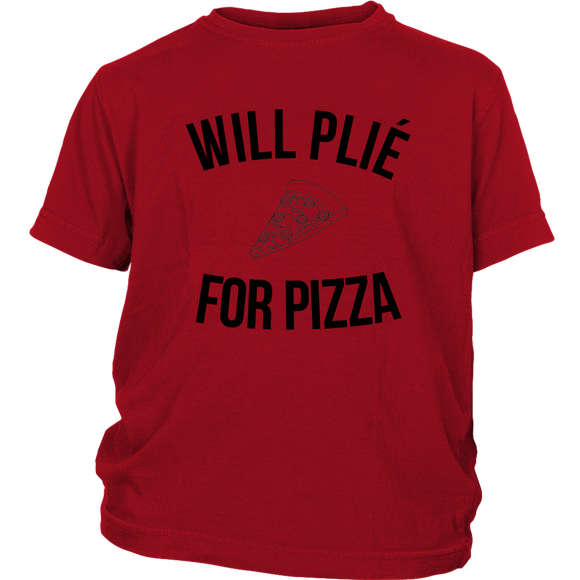 Applause Studio Will Plié For Pizza youth t-shirt