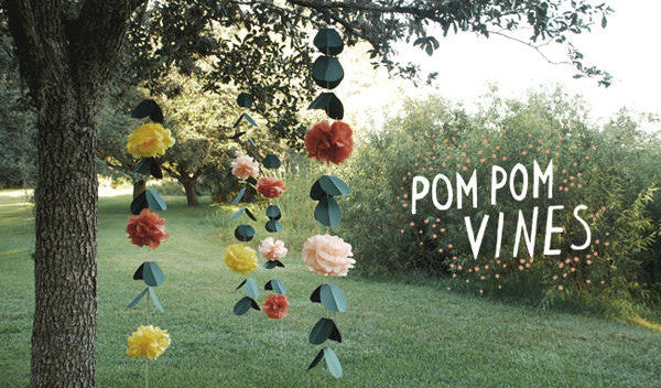 Easy DIY Projects: Pom Pom Vines + Metallic Branches