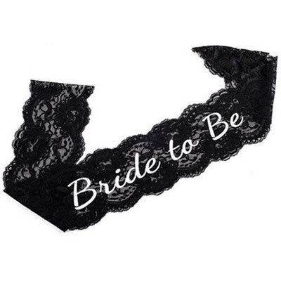 Bride To Be Lace Sash (black or white)