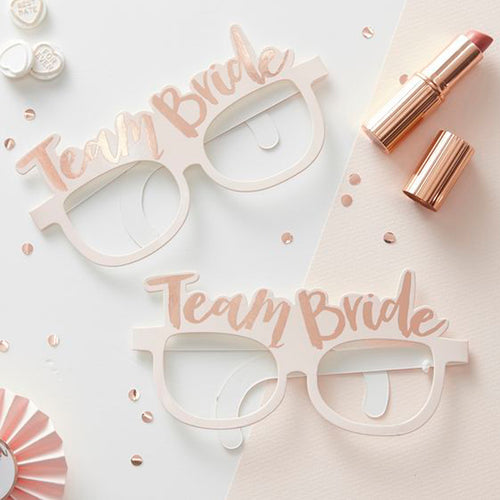 Team Bride Paper Glasses (Pack of 10)