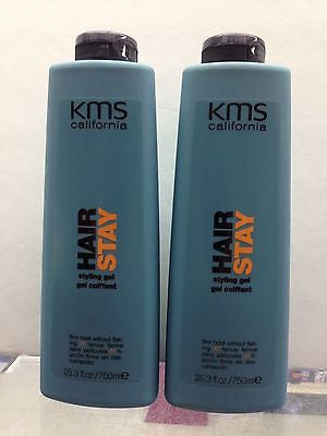 KMS California Hair Stay Styling Gel Firm Hold 25.3 oz LOT OF 2pcs - Candybeautynow