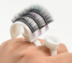 New Eyelash Extension Glue Ring Adhesive Eyelash Pallet Holder Set Makeup Kit Tool Make up Free Shipping - Candybeautynow