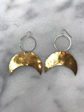 Hoop and Crescent Earrings