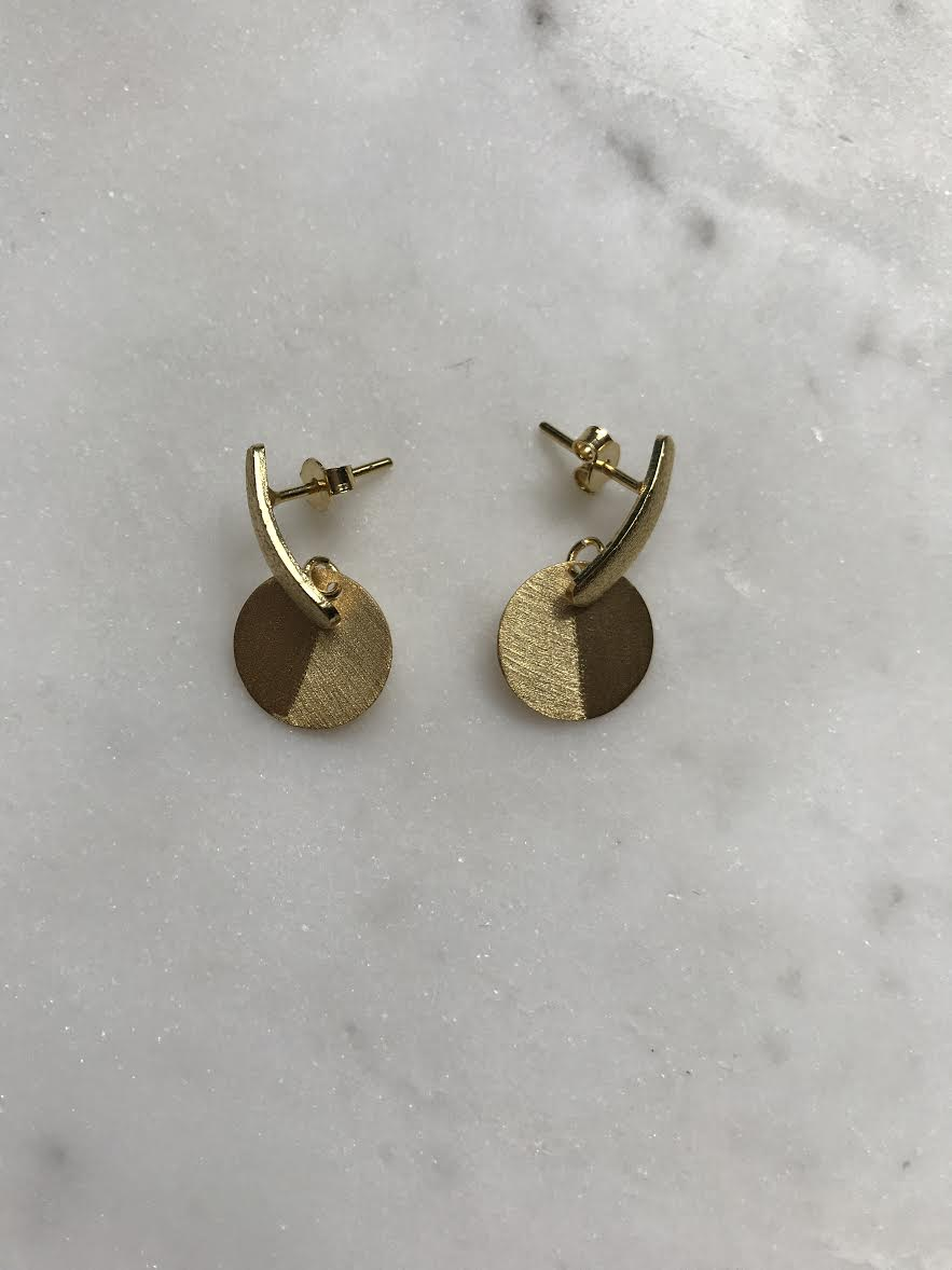 Stud Bar with Disk earrings