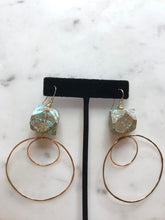 stone and hoop earrings