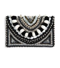 Beaded purse black