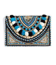 Beaded purse blue
