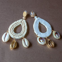 shell statement earrings