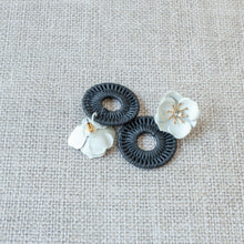 Black & White Floral Earrings