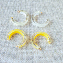 small lucite hoops earrings