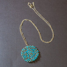turquoise brown pendant necklace