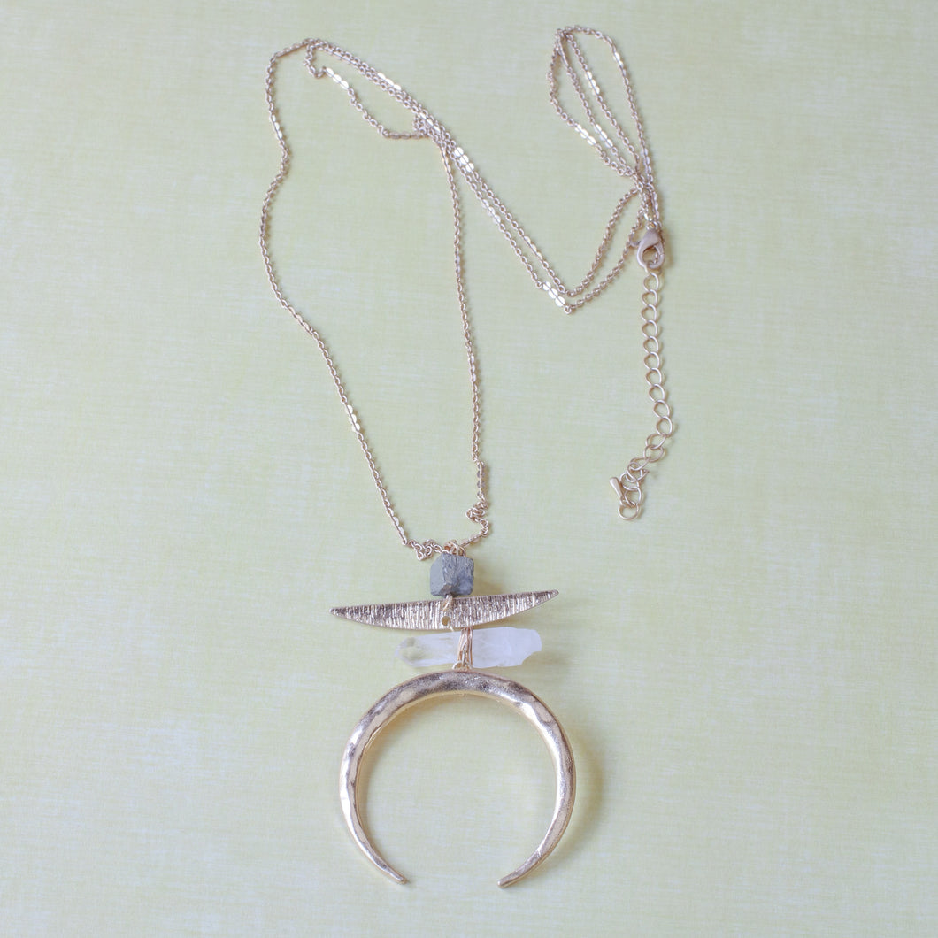 inverted crescent moon necklace