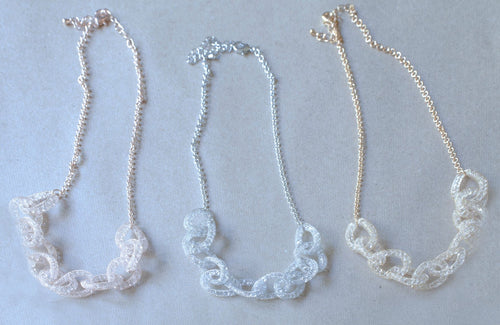 mesh crystal necklace