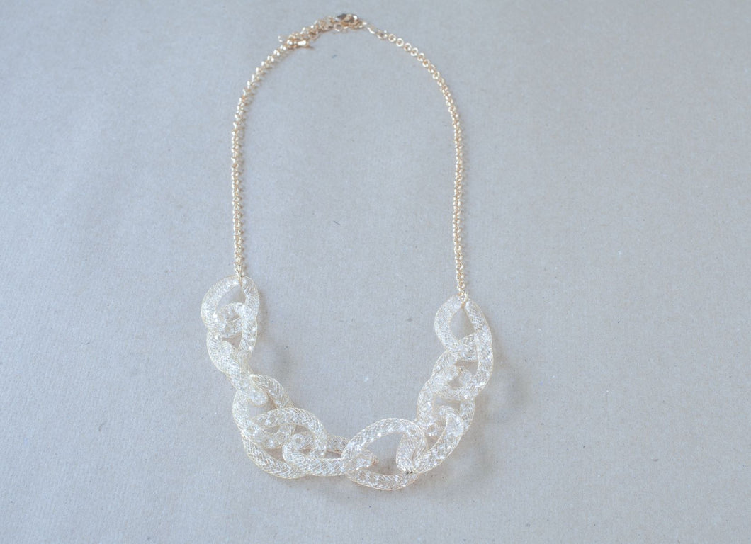 soft gold mesh necklace