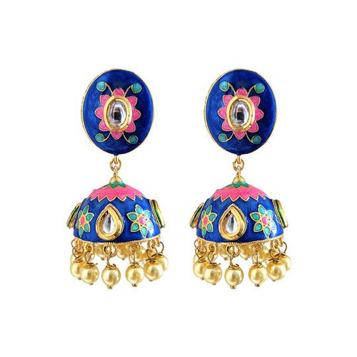 Blue Butterfly Jhumkas