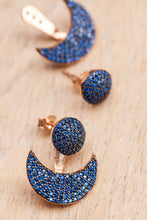 Half Crescent Jacket Earrings