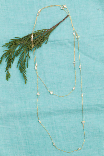 Multi Shaped Long Station Necklace