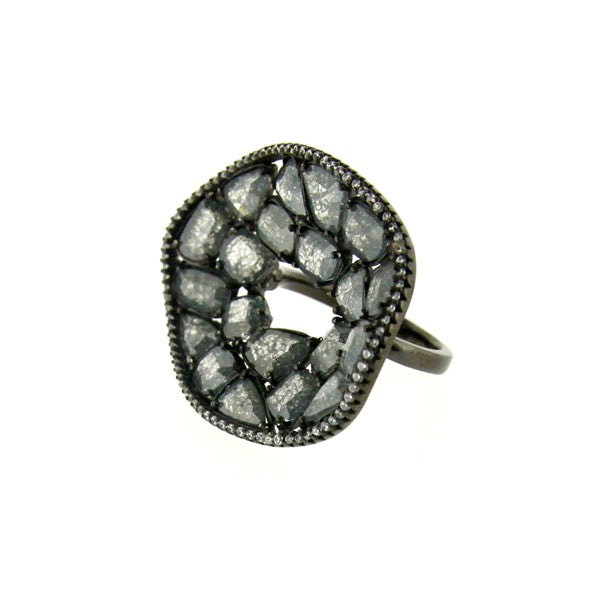 rose cut cocktail ring