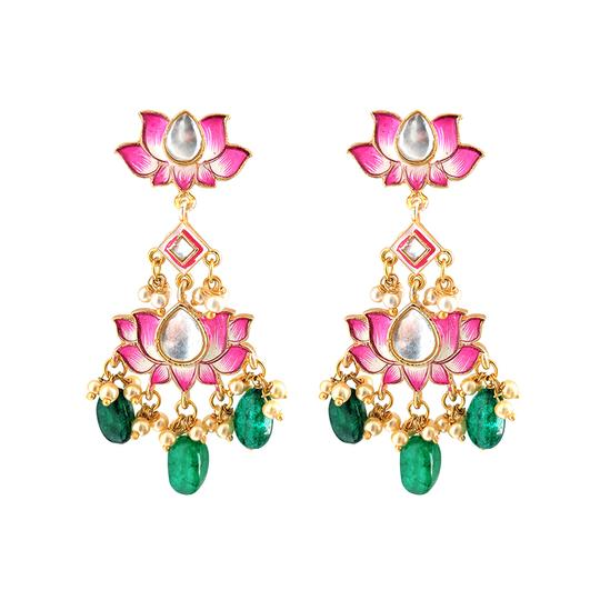 lotus statement earrings