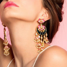 pink diwali earrings