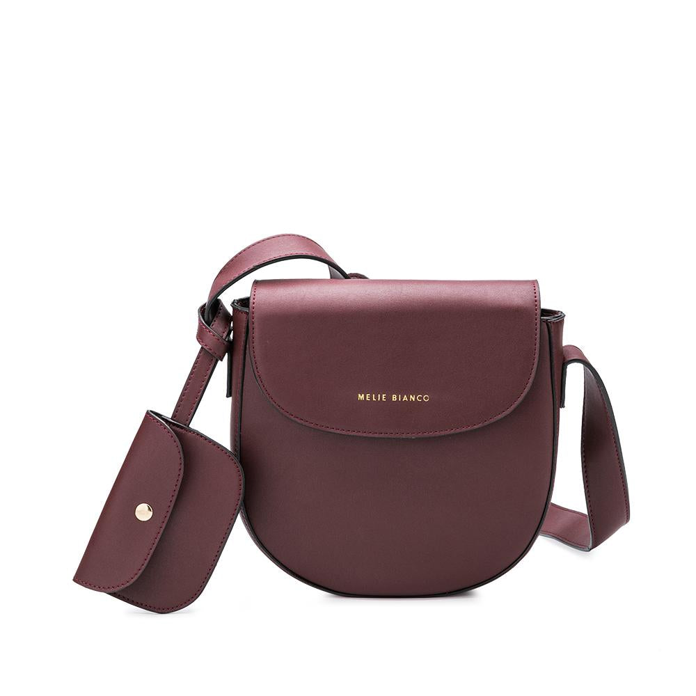 burgundy vegan bag