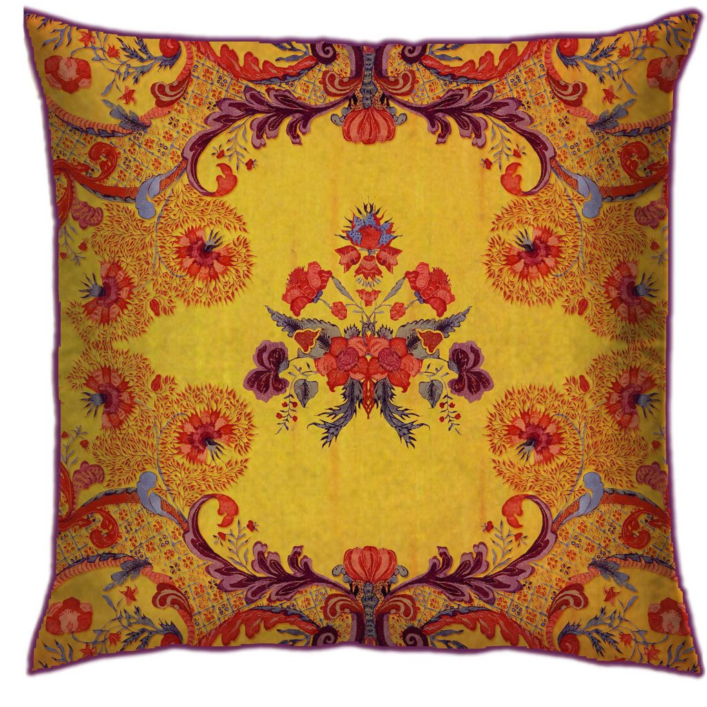 accent pillow yellow