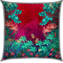 Trippy Blue Floral Cushion