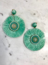 Veronica Round Fringe Earrings