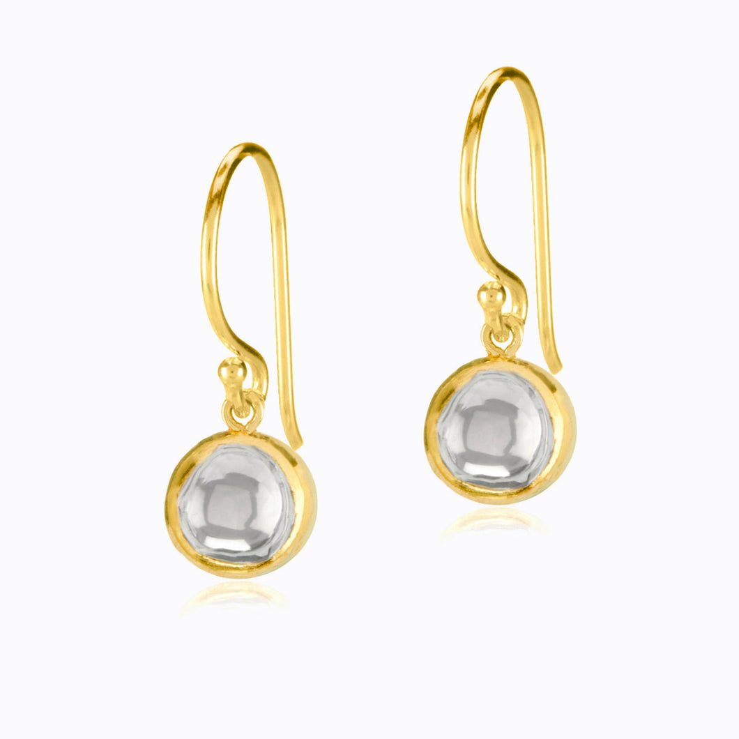 Round Diamond Earrings on a Hook