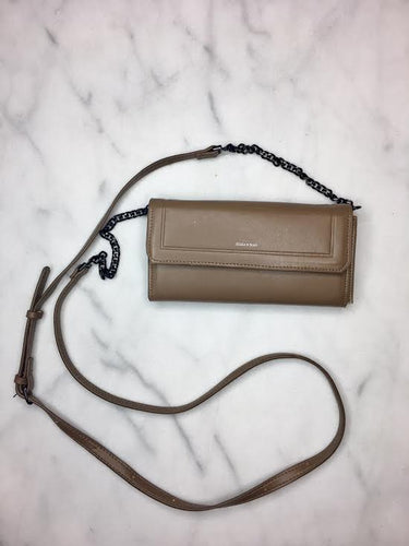 Selena Wallet with Chain Strap-Tan